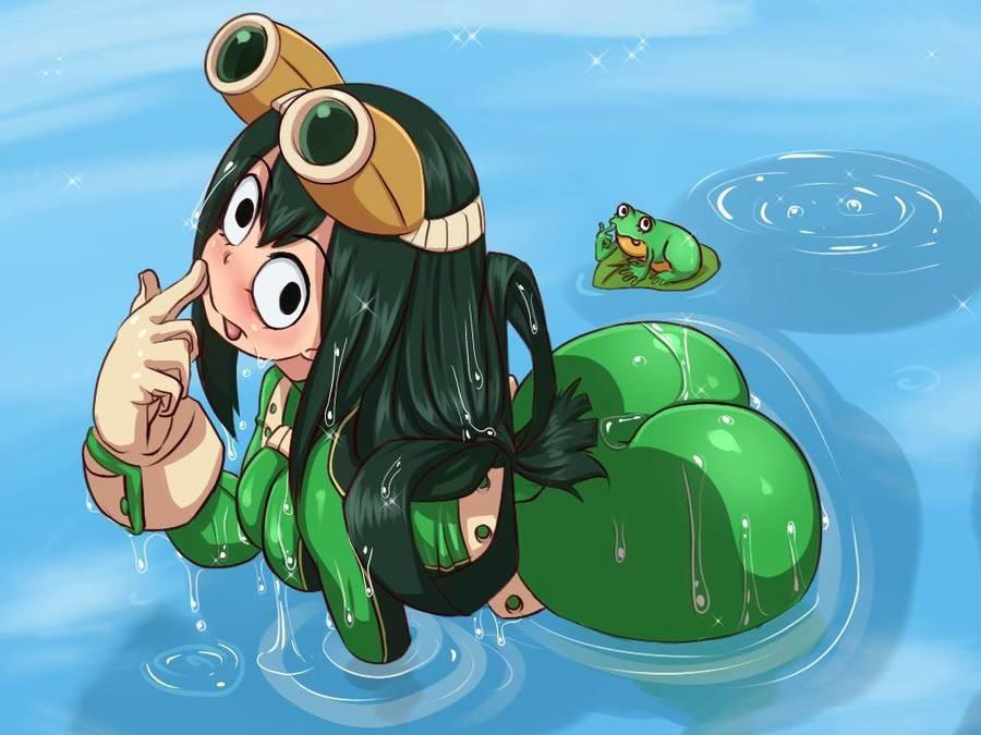 Look at Those Lily Pads.  .. needs more leg Anime manga boku hero tsuyu ASS Frog Lewd