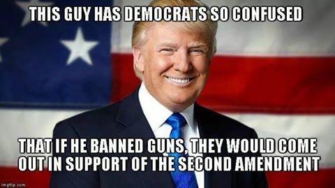 Trump Confusing Democrats. . trump democrats Guns