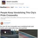 Don't drive on crosswalks