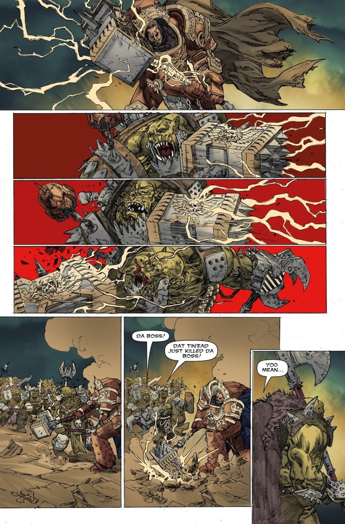 How to fight orks. . DA BOSS.' DAT Tln' EAD JUST KILLED DA. Bonus page: How to fight eldar How to fight orks DA BOSS ' DAT Tln' EAD JUST KILLED Bonus page: eldar