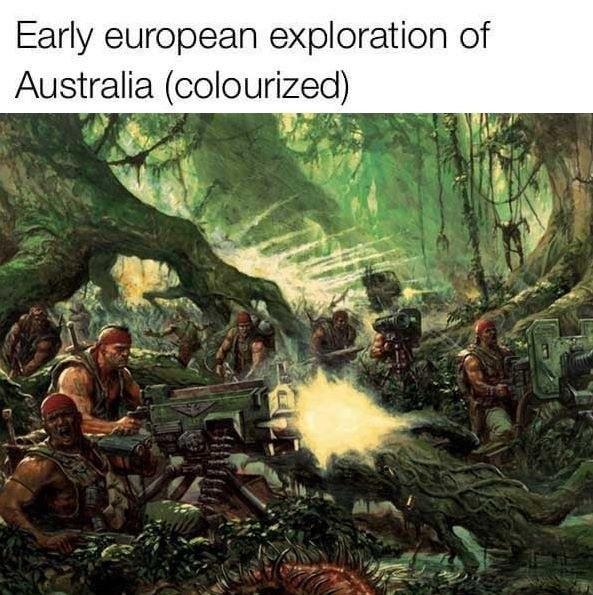 "Hunyts Hupu Votov Tecioty. . Early tip, llq,, "" exploration of Australia colourised Hunyts Hupu Votov Tecioty Early tip llq "" exploration of Australia colourised"