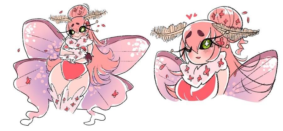 Pink Moth Girl.  blushily.tumblr.com/.. give Pink Moth Girl blushily tumblr com/ give