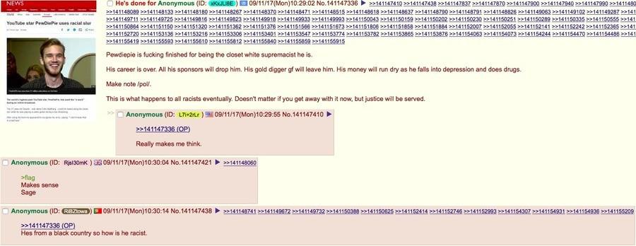 /pol/ discusses PewDiePie. .. that last response though /pol/ discusses PewDiePie that last response though