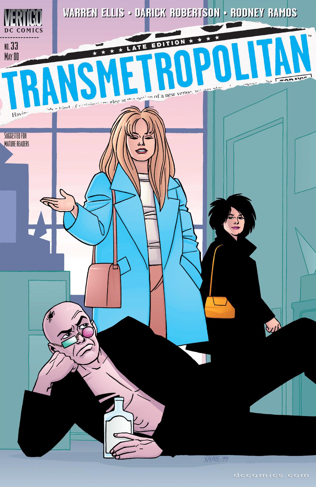 Transmetropolitan #33.   [trigger medium controls coll Transmetropolita