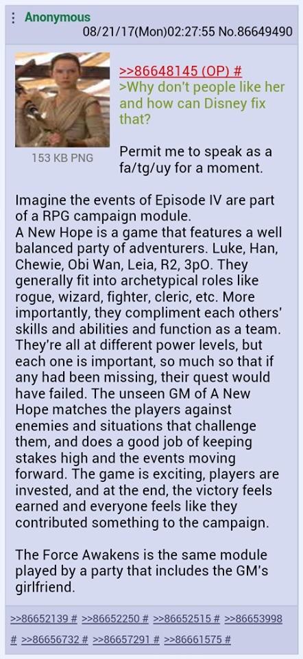 /tv/ explains the Disney Star Wars hate. .. atleast wait a few days god damn /tv/ explains the Disney Star Wars hate atleast wait a few days god damn