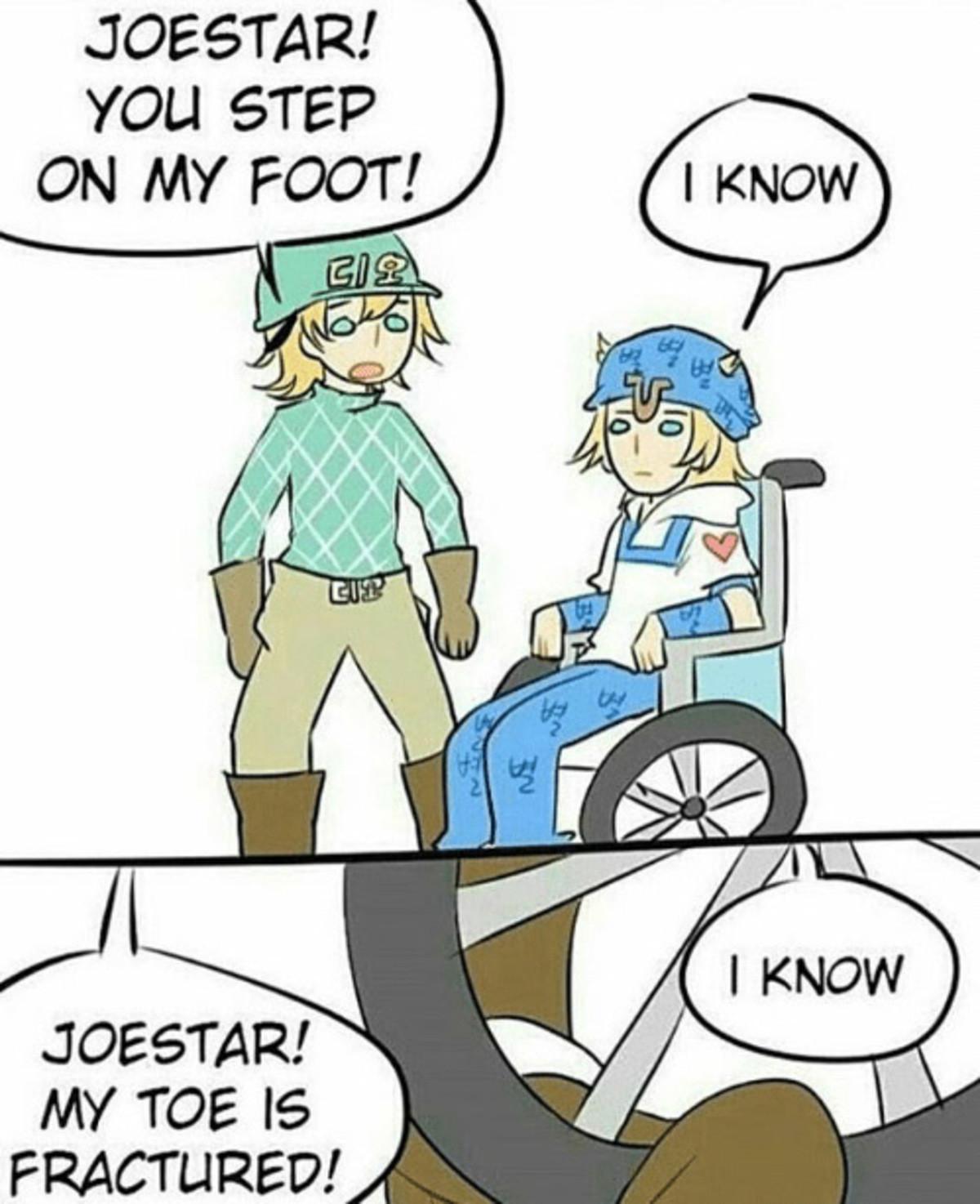 "Xeco Redeytu Gitiex. . JOESTAR! You 57519 can MY FOOT! JOESTAR! ' MY TOE. huh dio's hat says ""Dio"" in korean Xeco Redeytu Gitiex JOESTAR! You 57519 can MY FOOT! ' TOE huh dio's hat says ""Dio"" in korean"