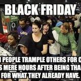 Black Friday hypocrisy.