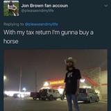 He got his horse